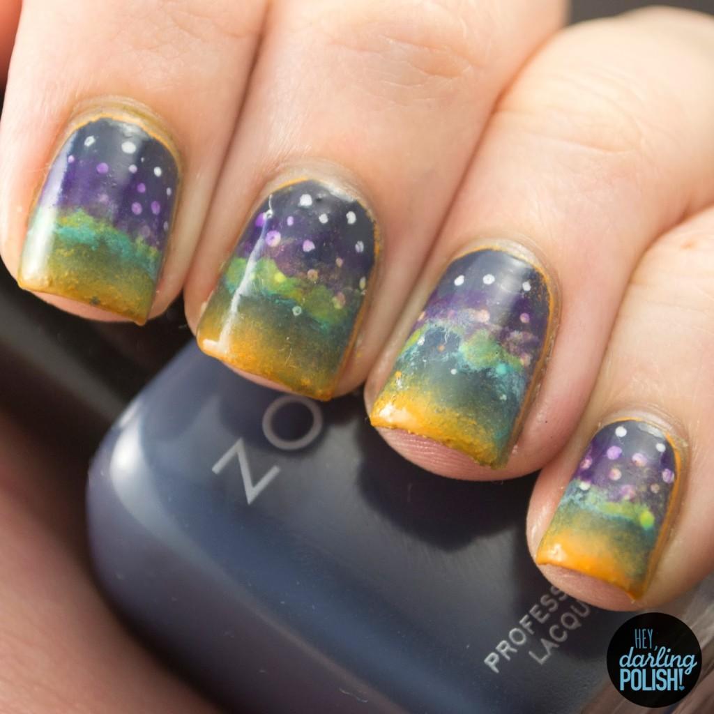 Nail-Art-A-Go-Go: Day 10 - Night Sky • Polish Those Nails