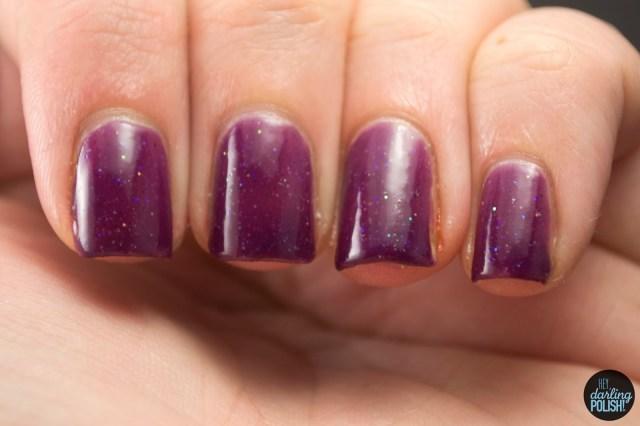 magenta, purple, glitter, hey darling polish, indie, indie polish, nail polish, polish, star crushed minerals, swatch