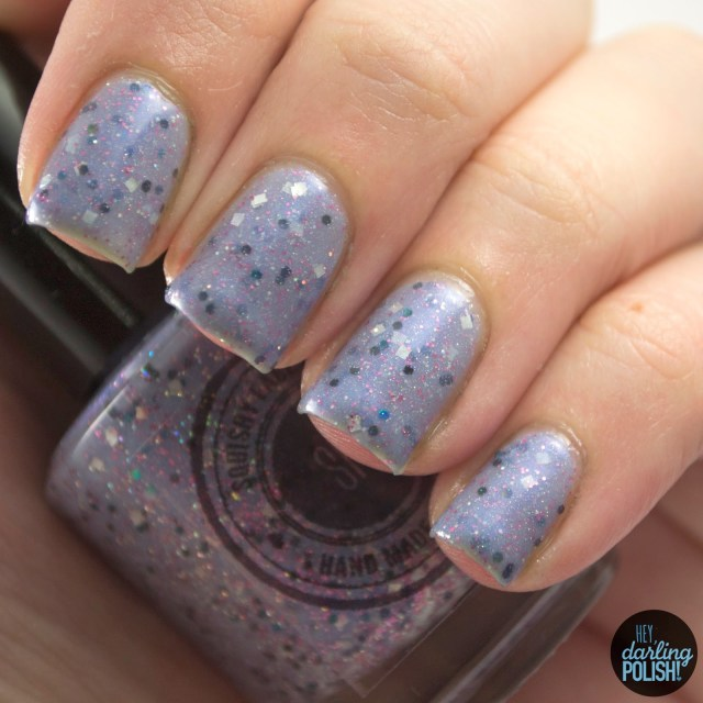 purple, ursula, glitter, nails, nail polish, indie, indie polish, indie nail polish, hey darling polish, swatches, swatching, squishy face polish
