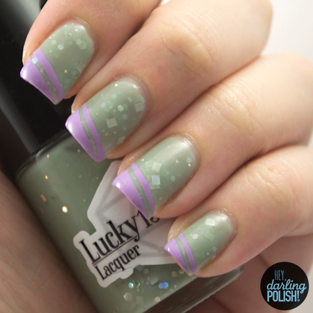nails, nail art, nail polish, polish, indie, indie nail polish, indie polish, taking the hobbits to isengard, lucky 13 lacquer, hey darling polish, green, purple, the neverending pile challenge, tgpnpc