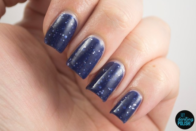not our division, blue, silver, glitter, a study in polish, hey darling polish, nails, nail polish, indie, indie nail polish, indie polish, swatch,