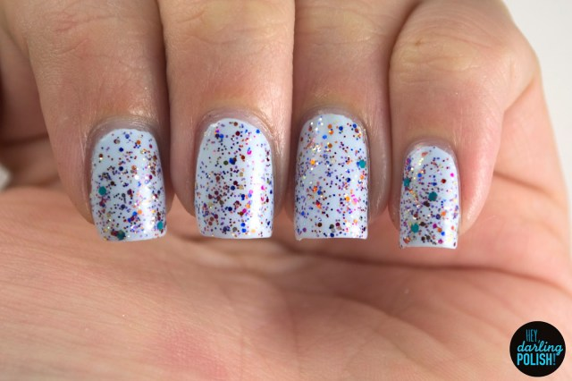 enigmatic doctor s, blue, nails. nail polish, polish, indie, indie polish, indie nail polish, northern star polish, hey darling polish, glitter, indie fridays