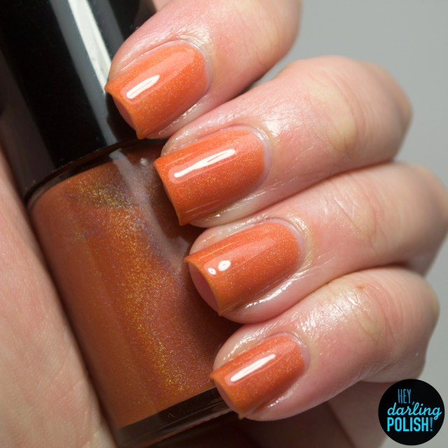 nails, indie, indie nail polish, indie polish,  nail polish, polish, holo, hey darling polish, orange, the never ending pile challenge, lucky 13 lacquer