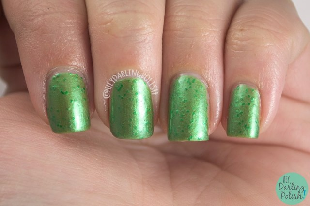 green, grass stains, glitter, nails, nail polish, indie polish, indie, love-a-bull lacquer, hey darling polish,