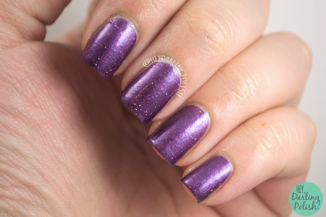 purple, glitter, plum crazy, nails, nail polish, indie polish, indie, love-a-bull lacquer, hey darling polish,