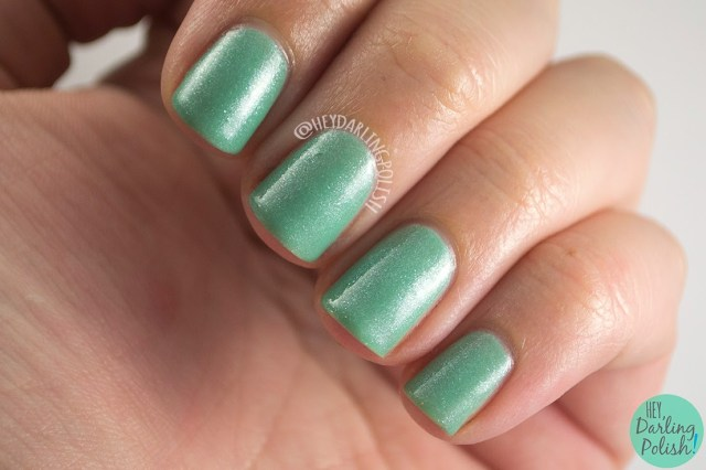anne, green, shimmer, mint, luxe lacquers, swatch, july box, summer, hey darling polish, indie polish, nails, nail polish,