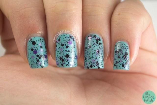 purple, practically purple, nails, nail polish, polish, indie, indie polish, northern star polish, glitter, swatch, hey darling polish,
