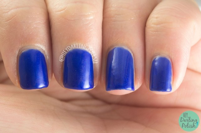 nails, indie polish, indie, kitty polish, swatch, hey darling polish, heart of the ocean, royal blue, blue, creme, shimmer
