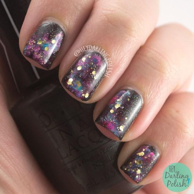 nails, nail art, nail polish, galaxy, galaxy nail art, hey darling polish, 31 day challenge, 31dc2014