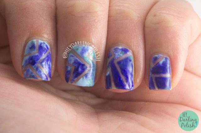 nails, nail art, nail polish, negative space, dry marble, hey darling polish, tape, fingerfood theme buffet, theme buffet