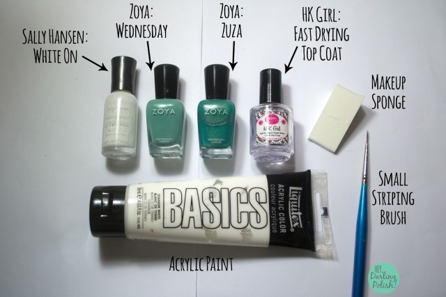 nails, nail art, nail polish, teal, zig zags, 52 Week Challenge, hey darling polish