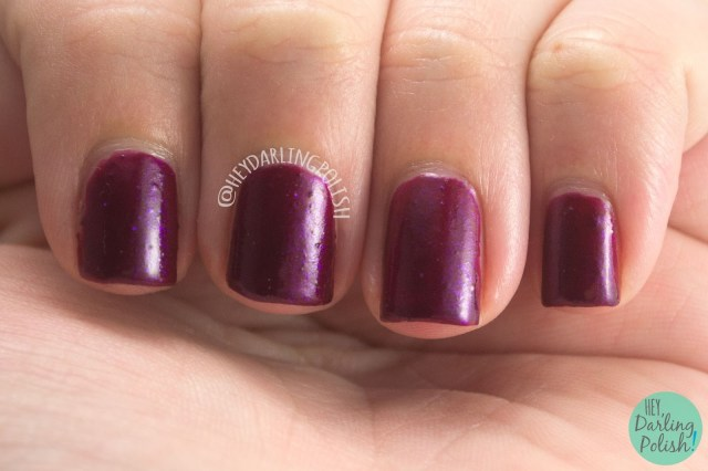 flame warrior, sailor mars, wine berry, nails, nail polish, indie polish, yume lacquer, hey darling polish, sailor moon, swatches, review