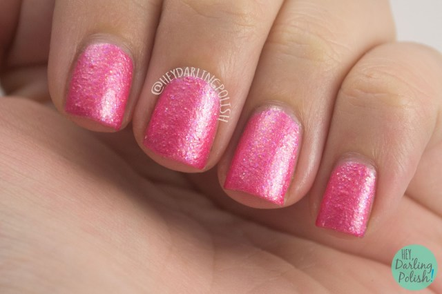 pink lady, pink, texture, nails, nail polish, indie polish, yume lacquer, hey darling polish, sailor moon, swatches, review