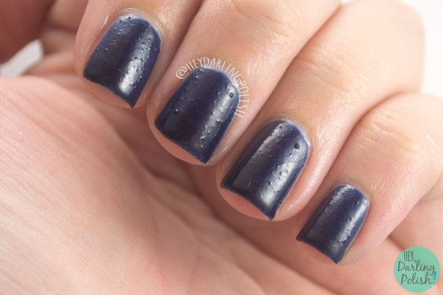 turbulent space, blue, navy, nails, nail polish, indie polish, yume lacquer, hey darling polish, sailor moon, swatches, review