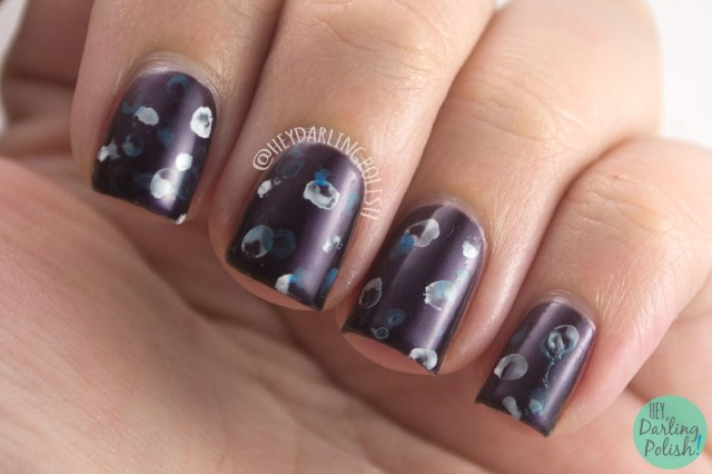posh, purple, bubble nail art, nails, nail art, nail polish, indie, indie polish, indie nail polish, nvr enuff polish, hey darling polish