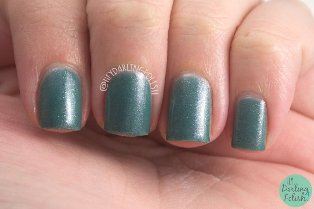 teal, shimmer, change your fate, nails, nail polish, indie, indie polish, indie nail polish, hey darling polish, fair maiden polish, be your own heroine