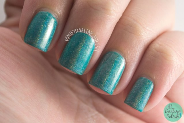 holographic, holo, topcoat, fairy godmother, nails, nail polish, indie, indie polish, indie nail polish, hey darling polish, fair maiden polish, be your own heroine