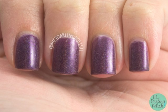 let your hair down, purple, holographic, nails, nail polish, indie, indie polish, indie nail polish, hey darling polish, fair maiden polish, be your own heroine