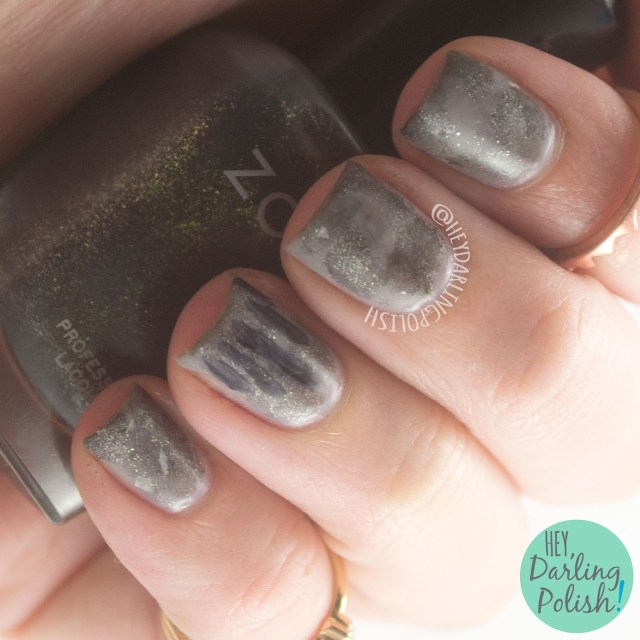 nails, nail art, nail polish, grey, oceana, birth.eater, album art, hey darling polish, naillinkup, nail art ideas linkup, handprint