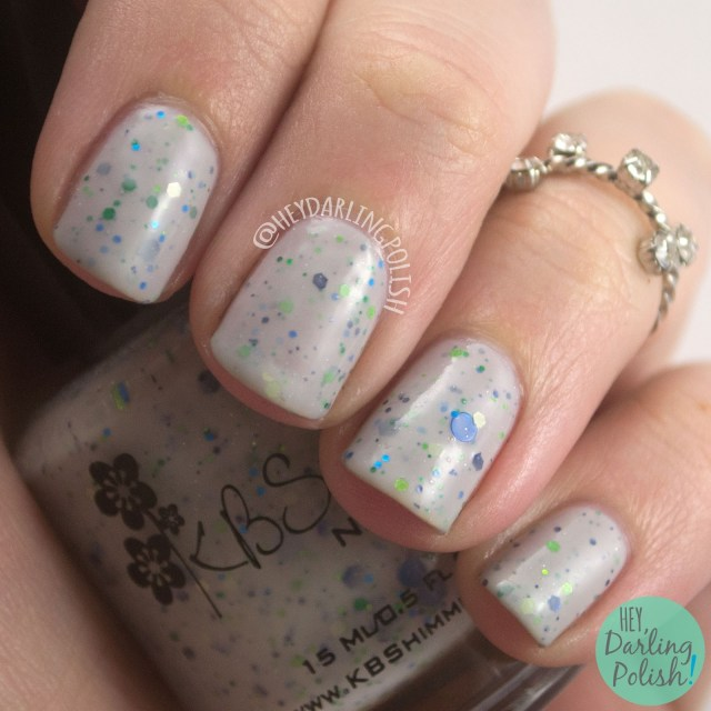 let's sleigh together, grey, glitter crelly, swatch, nails, nail polish, indie, indie nail polish, indie polish, kbshimmer, hey darling polish, winter collection 2014, holiday