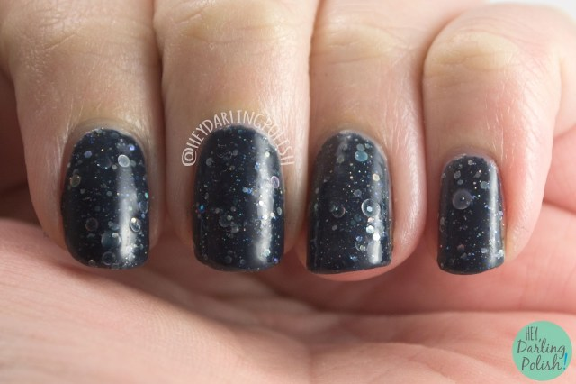 will yule marry me?, blue, silver, nails, nail art, nail polish, indie polish, kbshimmer, swatches, review, hey darling polish, glitter, glitter crelly