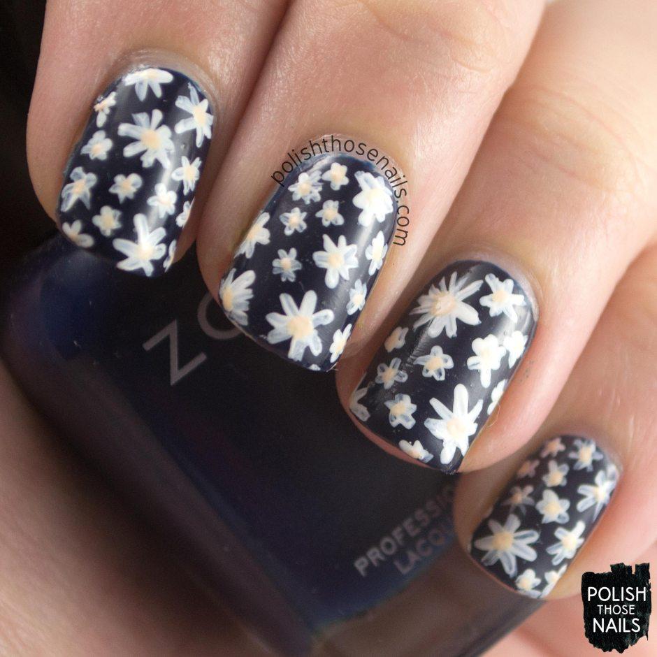 nails, nail art, nail polish, flowers, zoya, floral, the nail challenge collaborative, polish those nails