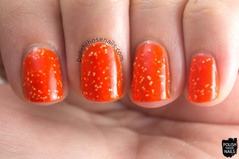 mcclung, orange, glitter, parallax polish, indie polish, secience collection, science