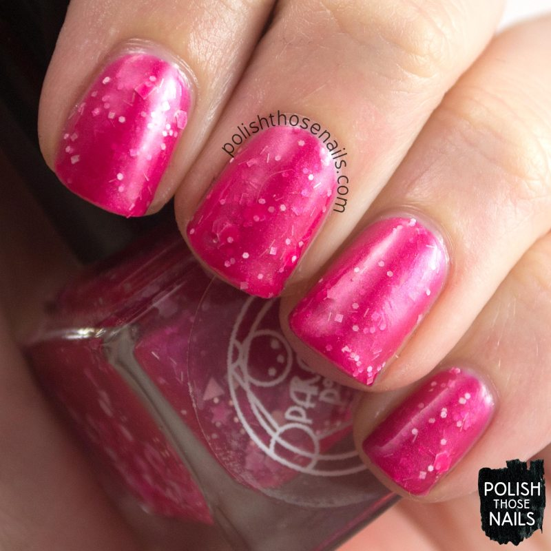 scen, magenta, glitter, parallax polish, indie polish, secience collection, science