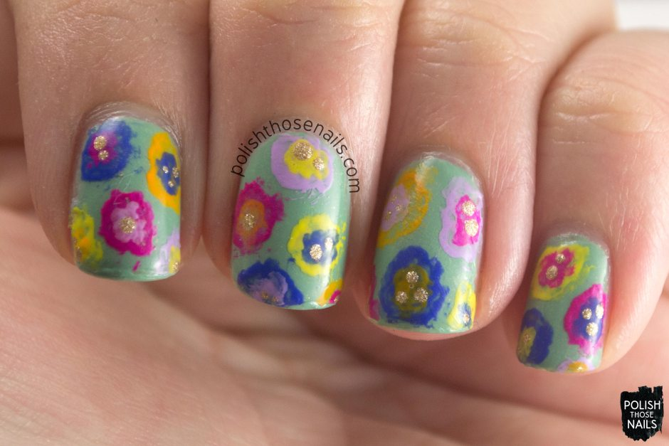 nails, nail polish, nail art, flowers, floral, spring floral, the nail challenge collaborative,