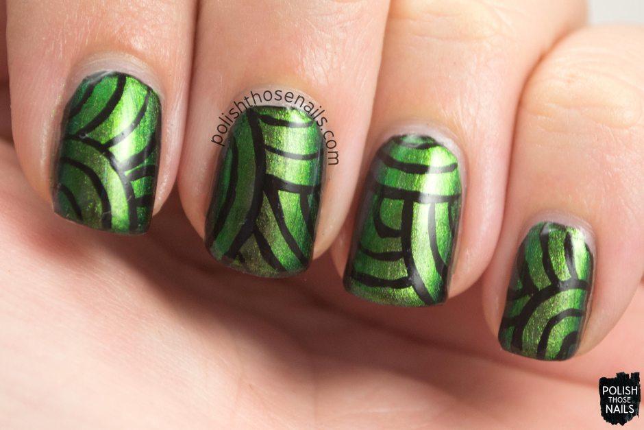 urban camo, nail art, multi chromes, lines, stripes, kbshimmer, nail polish, indie polish, polish those nails,