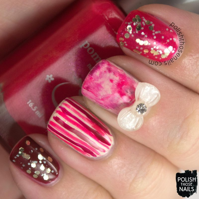 nails, nail art, nail polish, pink, red, glitter, polish those nails,