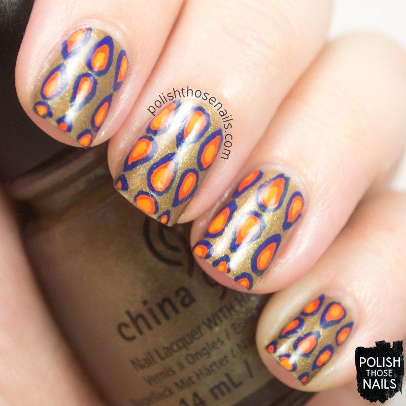 nails, nail art, nail polish, pattern, retro, polish those nails, oh mon dieu 3