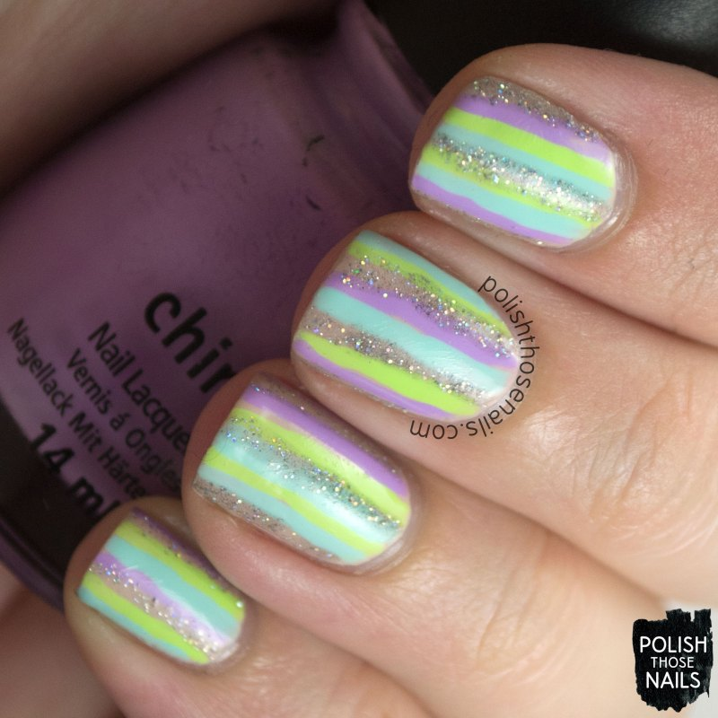 nails, nail art, nail polish, stripes, pastel, polish those nails, 52 week challenge