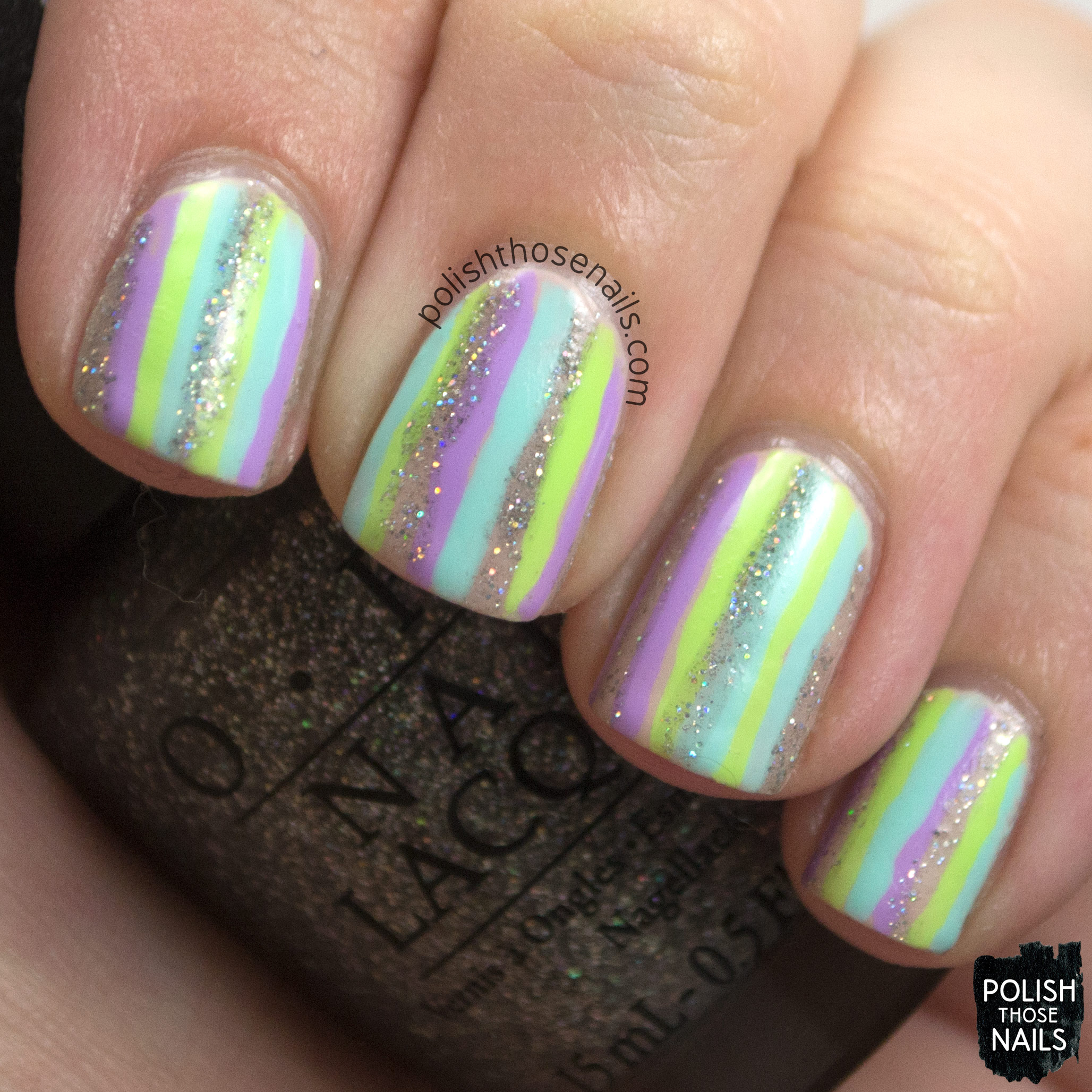 Concrete And Nail Polish Striped Nail Art: Striped Pastels • Polish Those Nails