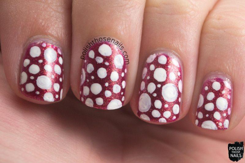 nails, nail art, nail polish, polka dots, pink, polish those nails, oh mon dieu 3, omd3, zoya, zoya reva