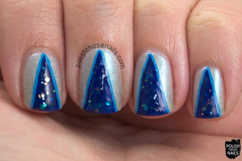 polish those nails, nails, nail polish, nail art, blue, silver, mentality, oh mon dieu 3, omd3