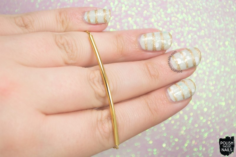 nails, nail art, nail polish, glitter, stripes, gorjana, gold, bracelet, rocksbox, polish those nails