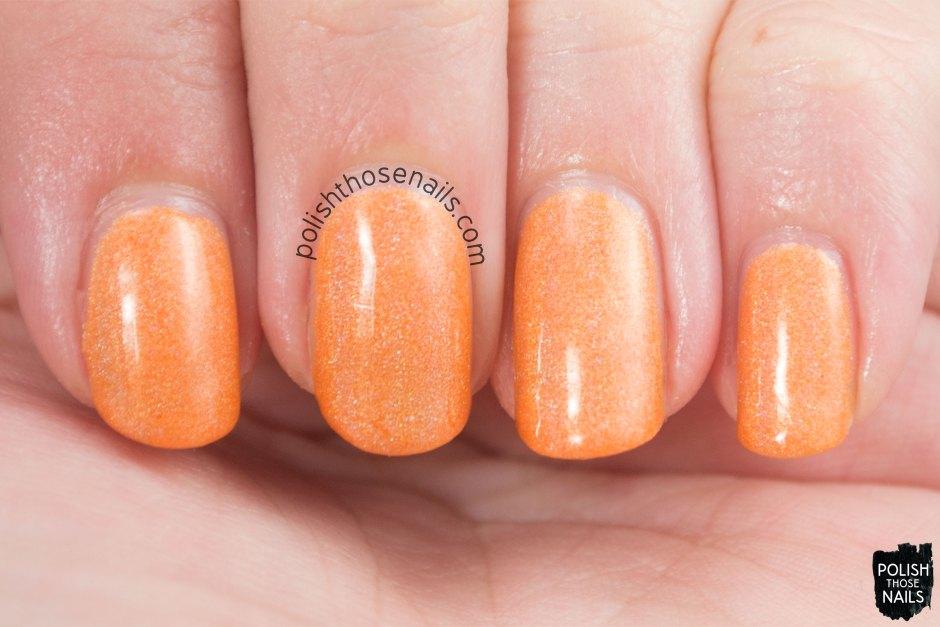 fusiform gyrus, orange, holo, nails, nail polish, indie, indie polish, indie nail polish, parallax polish, polish those nails, swatch