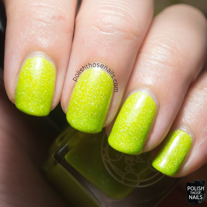 on off cells, yellow, holo, nails, nail polish, indie, indie polish, indie nail polish, parallax polish, polish those nails, swatch