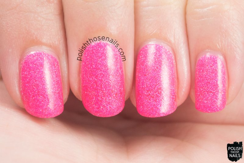 amygdala, pink, holo, nails, nail polish, indie, indie polish, indie nail polish, parallax polish, polish those nails, swatch