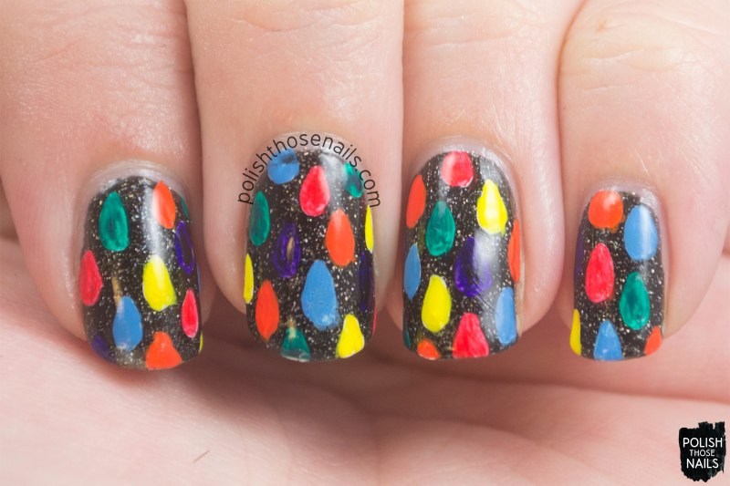 nails, nail art, nail polish, raindrops, rainbow, polish those nails