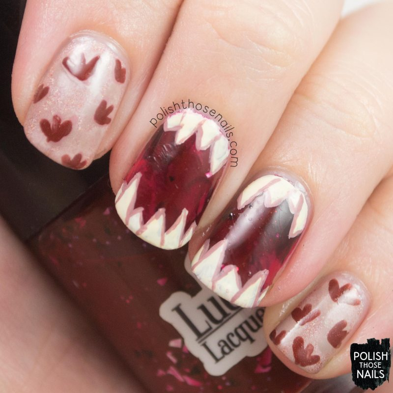 nails, nail art, nail polish, jurassic world, dinosaur nail art, polish those nails