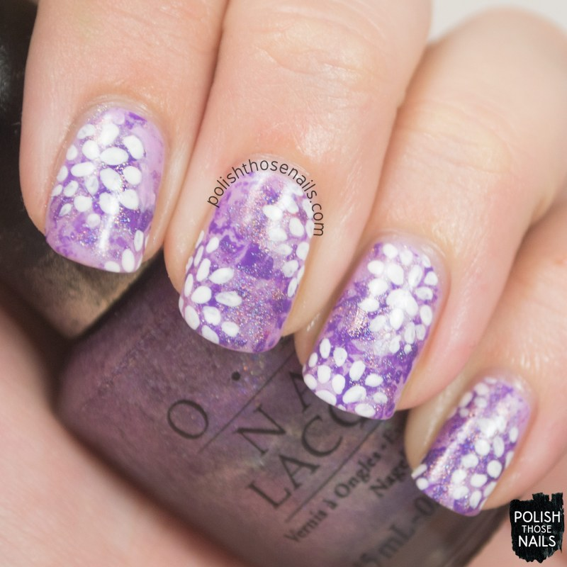 nails, nail art, nail polish, purple, floral, flowers, polish those nails, pattern