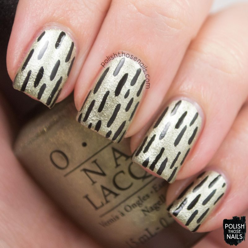 OPI-Starlight-Collection-Comet-Closer-Gold-Texture-Black-Line-Nail-Art-3