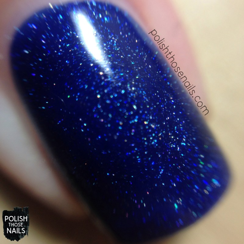 give me space, topi give me space, blue, holo, nail polish, opi, nails, polish those nails, starlight collection, swatch, macro
