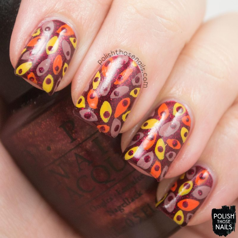 OPI-Starlight-Collection-Let-Your-Love-Shine-Red-Pattern-Nail-Art-3