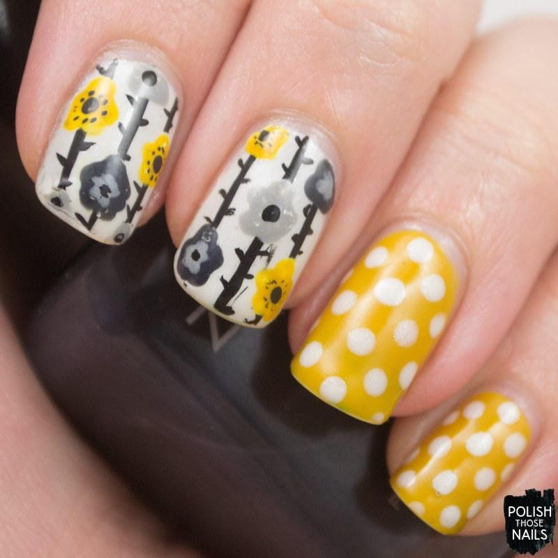 nails, nail art, nail polish, polish those nails, polka dots, floral