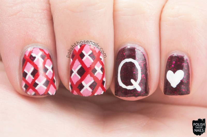 nails, nail art, nail polish, polish those nails, hearts, pattern, red nails