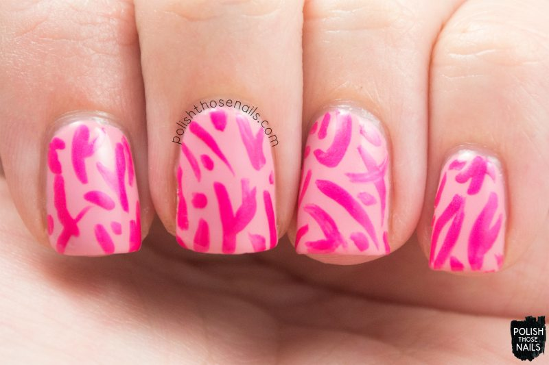 pink break, pattern, nails, nail art, nail polish, sinfulcolors,