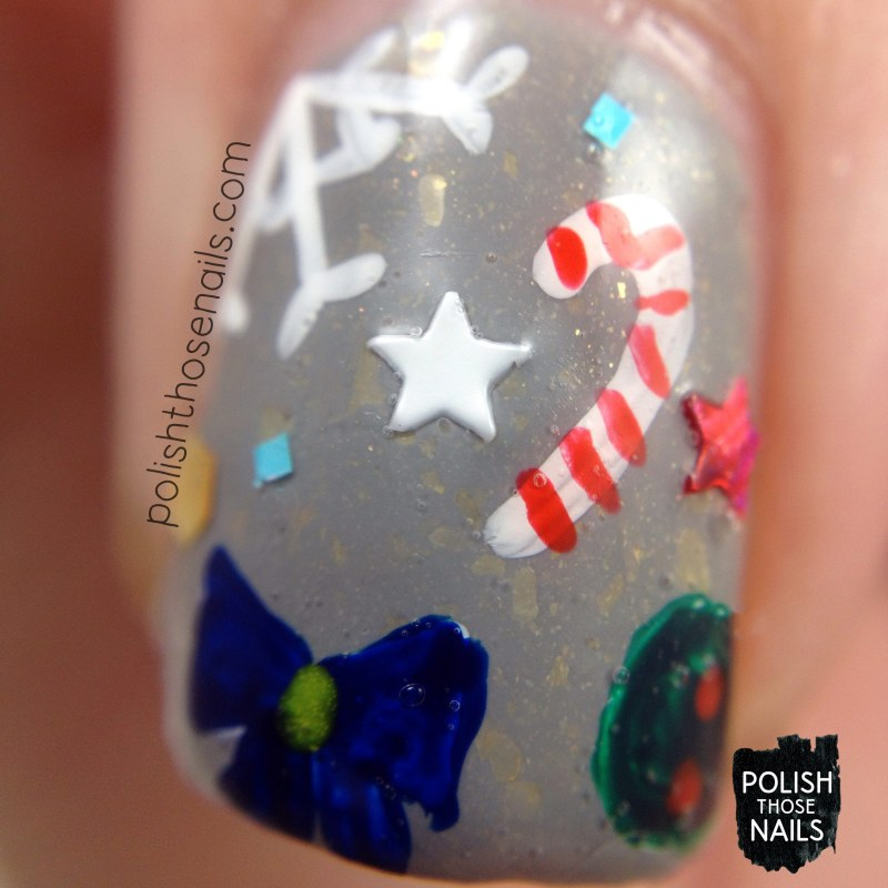 nails, nail art, nail polish, holiday, christmas nail art, polish those nails, macro